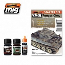 AMIG7407 Ammo Mig Набор для создания реалистичных эффектов PANZER GREY SET