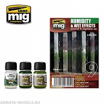 AMIG7409 Ammo Mig Набор для создания реалистичных эффектов (везеринга)  HUMIDITY AND WET EFFECTS