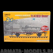 35A03 Сборная модель платформы 1/35 German Railway FLATBED Ommr 2-in-1( Standard Edition )