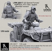 LRM35017 US Special Forces/MARSOC ATV rider, seated, bearded version