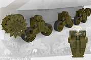 35037FURY Ходовая часть US tank M3 Lee/Grant suspension set