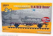 35A03-SVP Сборная модель платформы 1/35 German Railway FLATBED Ommr 2-in-1Super value pack (1+1)