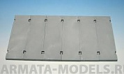 E-021 Дополнения для моделей Modern Concrete Road Panels Set #3 Set contains following elements in 1/35 scale:6 plaster casted, concrete panels. Size of the panel: 85,7 ? 28,5 mm.