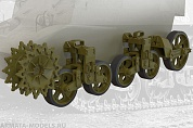 35013FURY Ходовая часть, поздний тип, для  US light tank M3A1 (late)/M3A3 suspension set